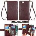Musubo tampa do telefone de couro original case para iphone 7 plus de luxo de volta cobrir para apple iphone 6 6 s plus carteira saco 7 mais casos cobrir