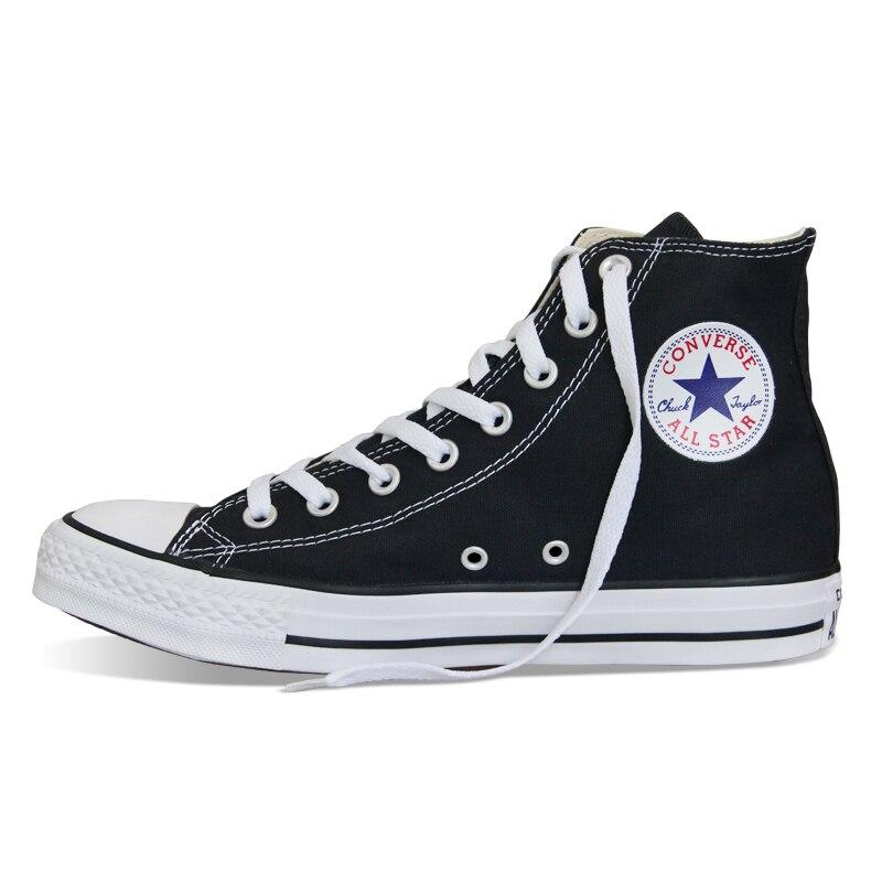 D'origine Converse all star chaussures hommes femmes sneakers toile chaussures tous les noir haute classique de Planche À Roulettes Chaussures livraison gratuite - 2