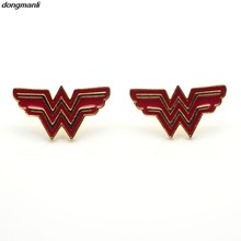 WS0781 Wonder Woman Earrings Justice League Style Ear Studs, Geeky Accessories Comic Superhelden Cosplay Jewelry Dropshipping(China)