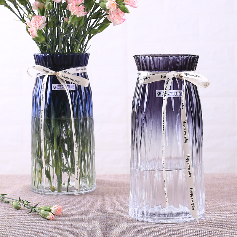 European style simple hydroponic glass vase transparent rose lily carnation starry dried flower vase decoration
