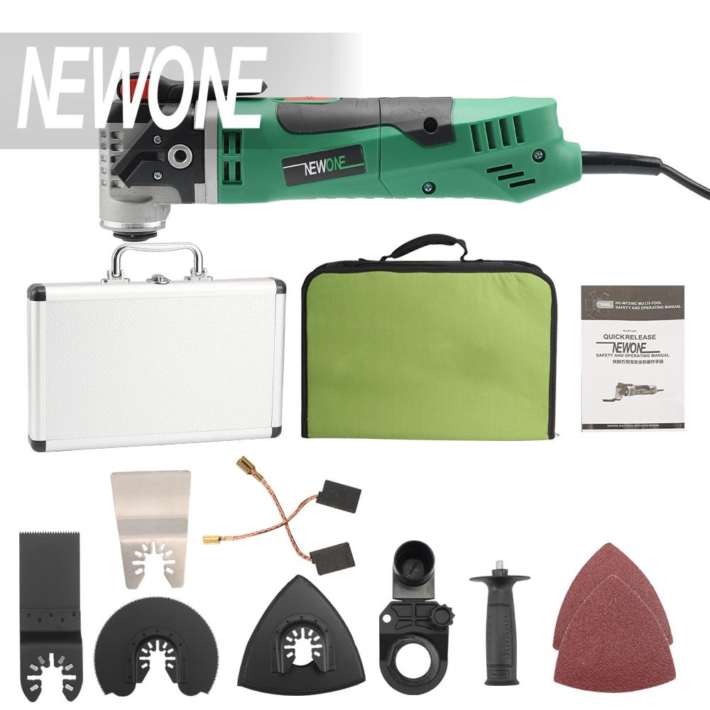Set 4 NEWONE 350W Quick Release Electric Power Tool Variable Speed RotatingOscillating Multi-Tool Kit Multi Function goal zero switch 10 multi tool kit