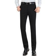 Мужские костюмные брюки хорошего качества эластичные мужские деловые брюки для официального костюма мужские прямые брюки 29-38