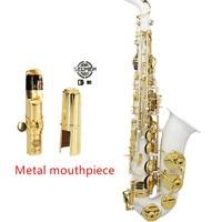 Metal 2017 France Henri Selmer Paris Alto Saxophone 802 E Flat Electrophoresis Gold Saxe White Color