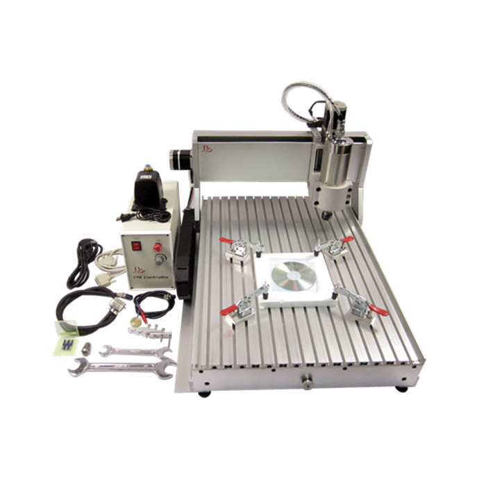 CNC router woodworking lathe 3axis engraving machine 6040 2.2KW water cooling spindle weihong card woodworking lathe engraving plasma denture machine weihong cnc system integration nk105g2 for 3 axis