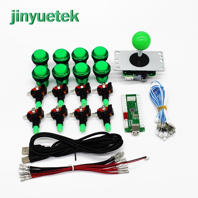 Original Sanwa Japan arcade Push Button sanwa joystick USB to PC Zero Delay Encoder For JAMMA MAME Arcade DIY Kit 1 player(China)