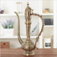 Europe metal Arabian hip flask home living room wine set decoration ornaments office desk decoration souvenir statuettes A04