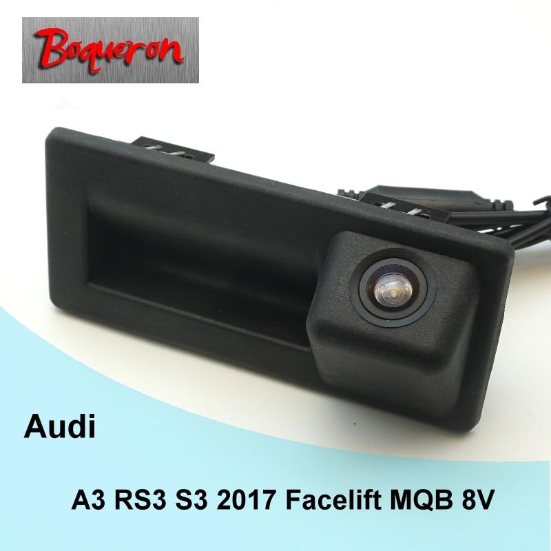 For Audi A3 RS3 S3 2017 Facelift MQB 8V Original Factory Trunk Handle Car Rear View Camera HD CCD Reverse Parking Backup Camera