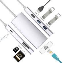 Mosible Thunderbolt 3 адаптер Тип usb C концентратор к HDMI 4 К Rj45 1000 Мбит/с Поддержка Dex для samsung S8/S9/Note8/Note9 для Macbook Pro