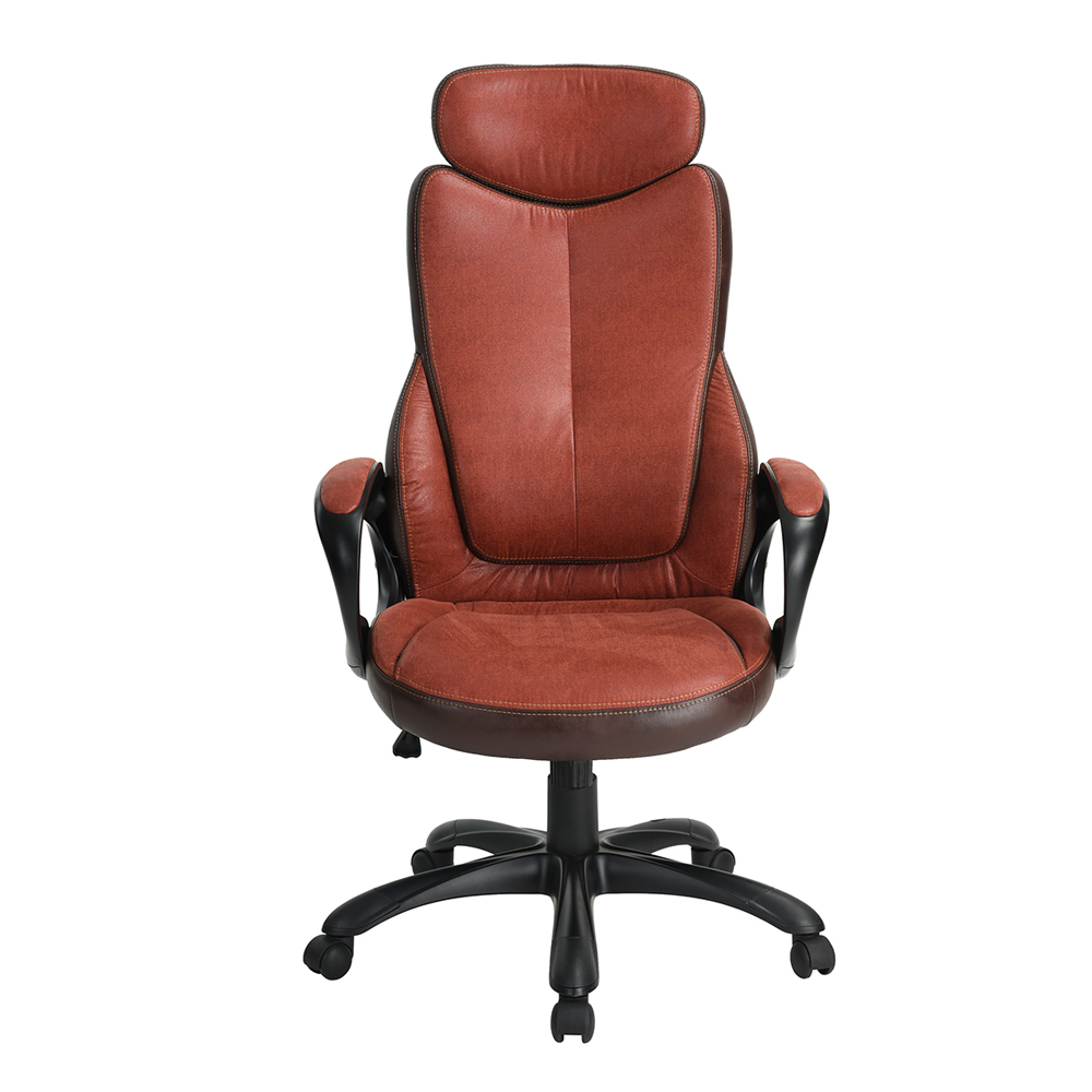 EGGREE Ergonomic High-Back Executive Office Chair Gaming Chair 360 Degree Swivel with Fabric Seat And PU Cover  ...