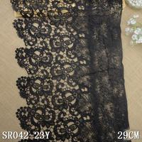1kg 23yard 29cm Wide Water Soluble Lace Fabric French Lace Trim Dress Applique Guipure Dentelle Sewing