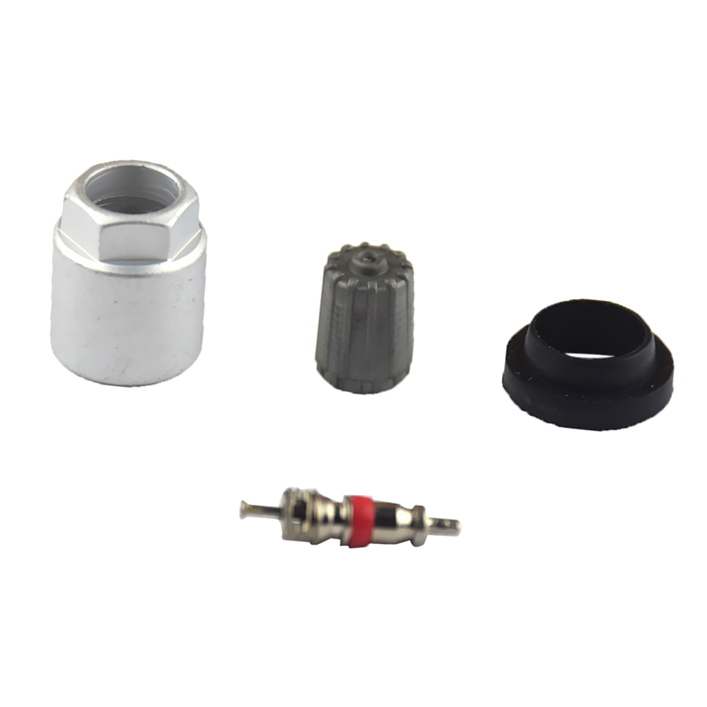 4 Pieces Auto Car Tire Pressure Monitor Valve Stem Caps Sensor Indicator TPMS Service Kit With Nut Valve Cap Gasket
