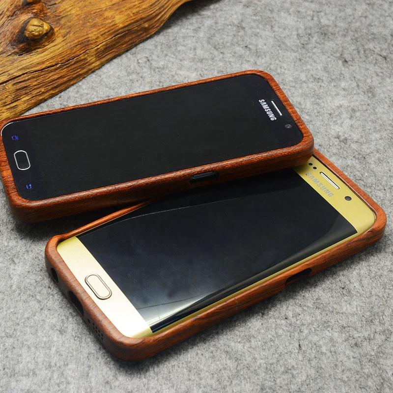 עץ Case for Samsung Galaxy S5 S6 S7 קצה בתוספת הערה 7 3 4 5 לכסות מקרה Coque עבור iPhone 7 בתוספת 6 6 5 5 סה טלפון נייד המקרים