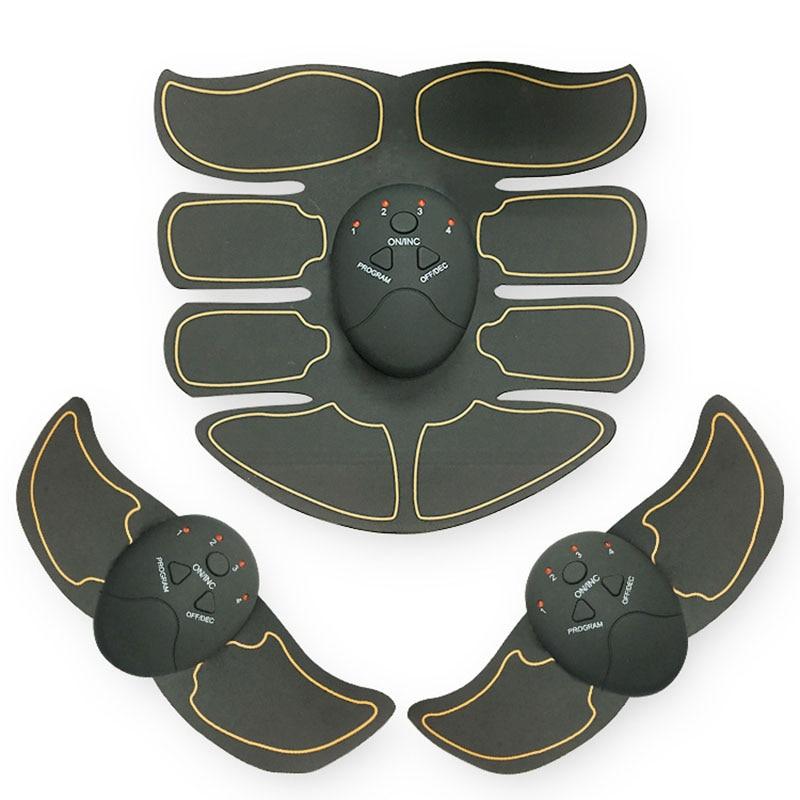 EMS Stimolatore Muscolare Addominale Trainer Intelligente ABS Sculpting Massager Pad Fitness Palestra Braccio Adesivi Perdita Del Corpo Che Dimagrisce Massager