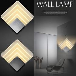 Nowoczesna lampa sufitowa LED dla łazienka sypialnia 5 W ścianie kinkiet kryty lampa oświetleniowa AC85 265V LED ściana światło oświetlenie wewnętrzne w Wewnętrzne kinkiety LED od Lampy i oświetlenie na