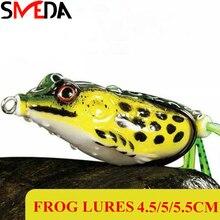 Isca Artificial Lures For Fishing Soft Silicone Bait Japan Fishing Lures Frog Treble Hooks Topwater Bait цена в Москве и Питере