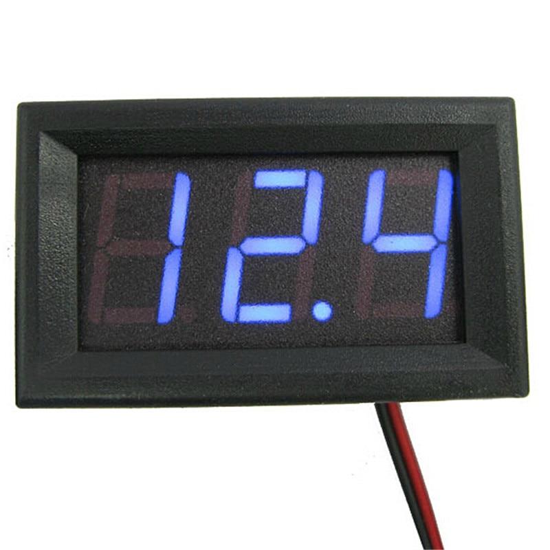 Mini Dwa przewody Woltomierz cyfrowy Czerwony wyświetlacz LED - Przyrządy pomiarowe - Zdjęcie 2