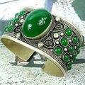 shipping>>>> Fine Jewellery tibet Silver Cuff Jade bracelet 5.24