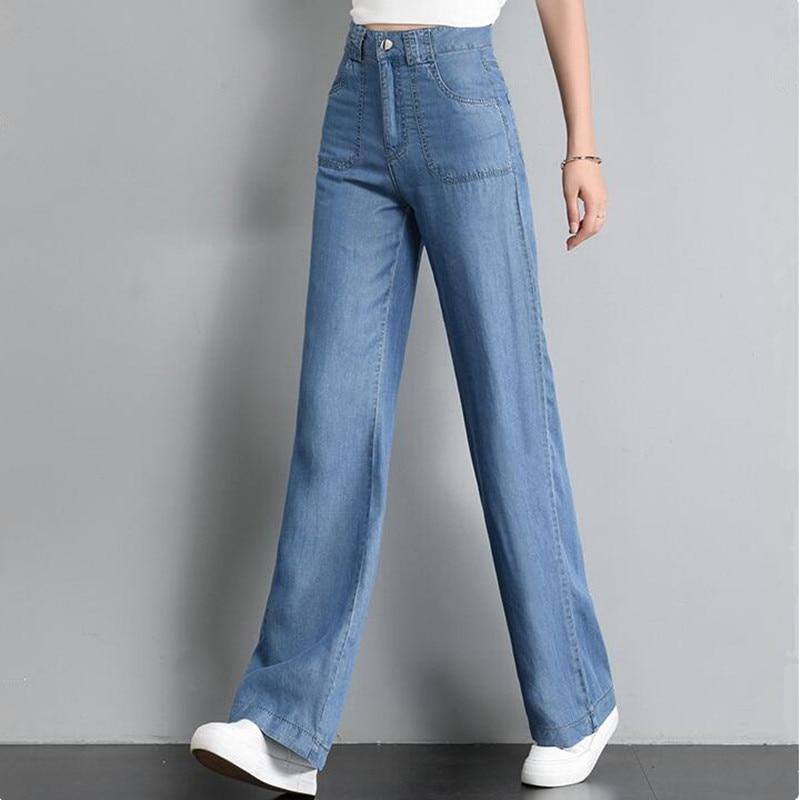 Vintage High Waist Jeans For Women Wide Leg Flare Moms Jeans Denim Pants Brand Korean Baggy Jeans Trousers Summer Autumn 2020