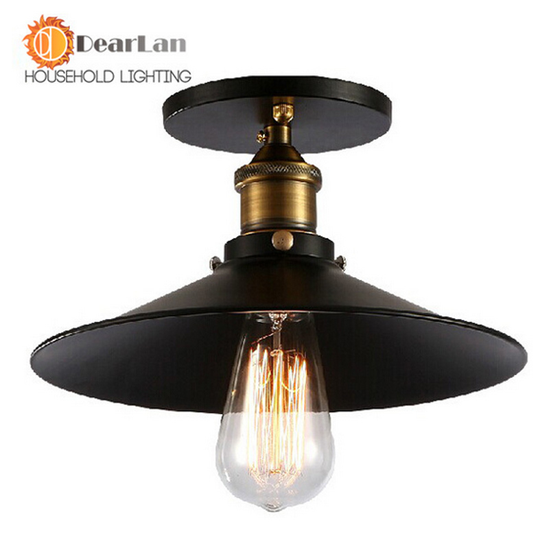 Vintage Ceiling Light Edison Lampe American Style E27 Iron RH Loft Ceiling Lights For Coffee Bar Restaurant Køkken Lights