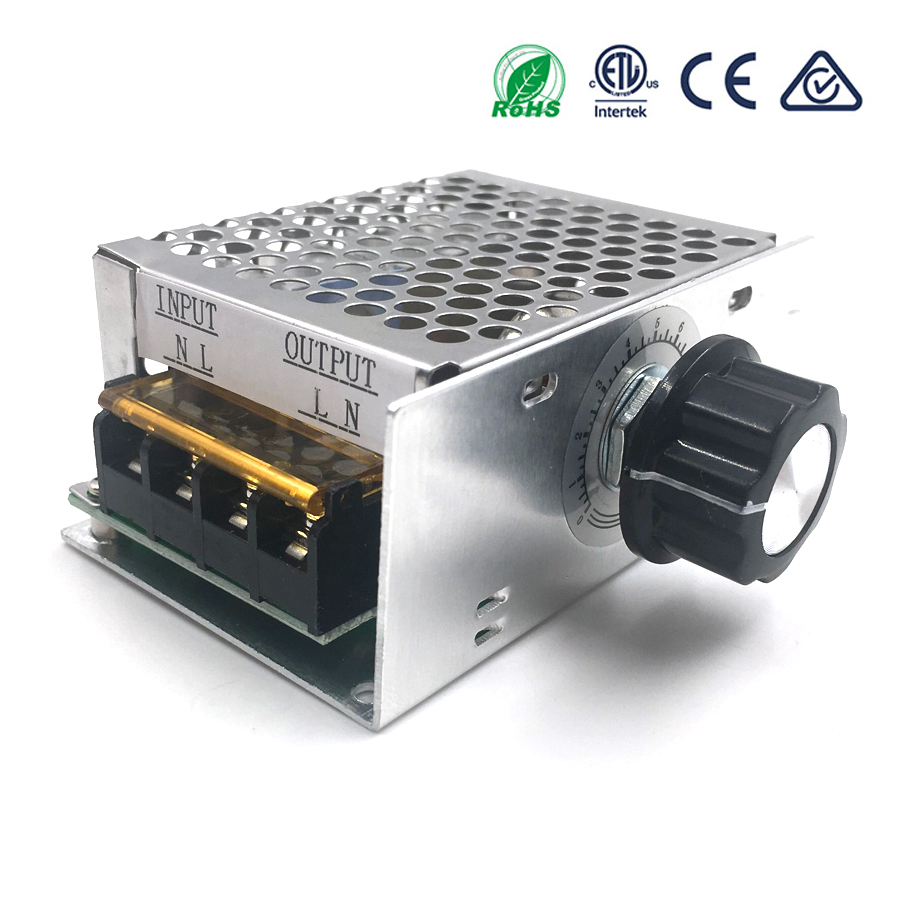 4000W 220V AC SCR Voltage Regulator Dimmer Electric Motor Speed Controller Electronic Volt Regulator Dimmer Thermostat Regulator