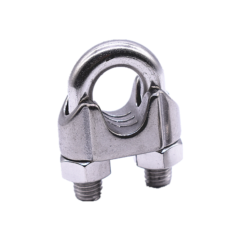 1PCS 304 Stainless Steel Wire Rope Clamp Chuck Head U-clamp wire clamp Wire Rope Fastener M2 3 4 5 6 8 10 12 14