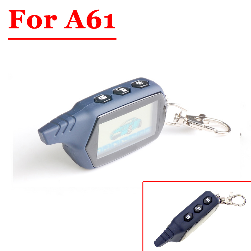 HOT (1PCS) 2-way A61 LCD Remote Controller Key Fob For StarLine A61 Two Way Car Alarm System Russian Version 2 Way Car Alarm