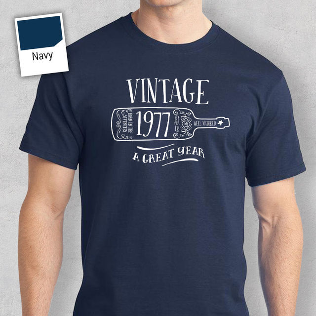 40th Birthday Gift Present Idea For Boys Dad Him Men T Shirt 40 Tee 1977