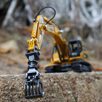 1:50 Alloy Timber Grab Crawler Excavator Car Engineering Vehicle Educational Model Diecast For Boys Toys