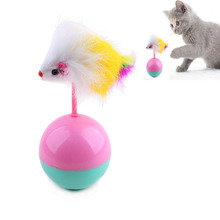 New Arrive Pet Cat Favorite Mouse Tumbler Plastic Ball Toy A Cat Playing Tumbler Pet Cat Toy Supplies