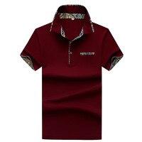 Jbersee 2018 Fashion Short Sleeve Polo Shirt Men Turn Down Collar Summer Polo Men Brand Shirt