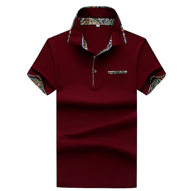 Arilce Vampire-Weekend Men Polo Shirt Short Sleeve Lapel Blouse Black