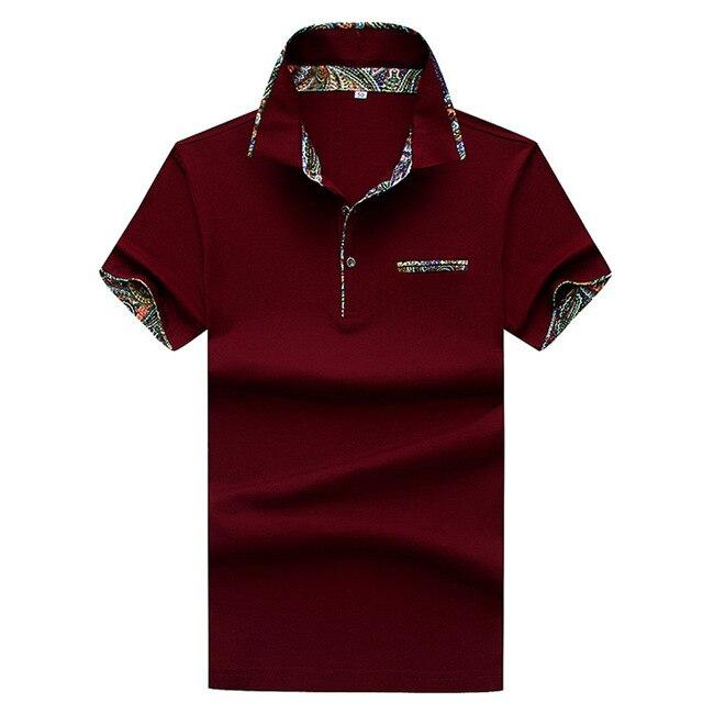 698b283626 Jbersee 2018 moda manga corta Polo shirt hombres turn Abrigos de plumas  collar verano Polo hombres
