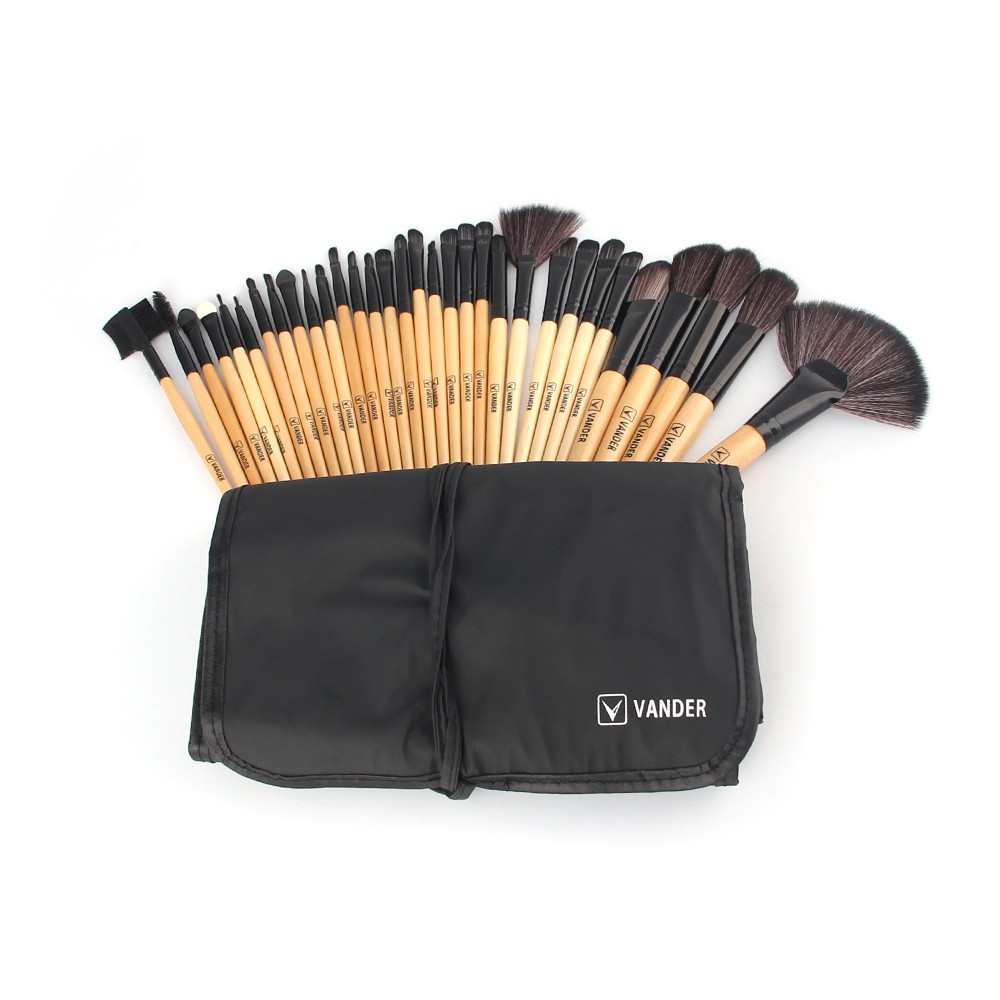 Vander 32Pcs Professional Makeup Brushes Foundation Eye Shadows Lipsticks Powder Make Up Brushes Tools Bag pincel maquiagem Kit