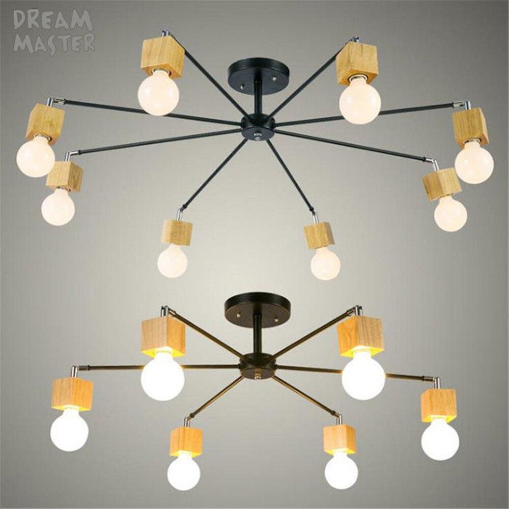 moderne bois led plafond lustre noir blanc salon chambre enfants chambre de plafond lustres. Black Bedroom Furniture Sets. Home Design Ideas