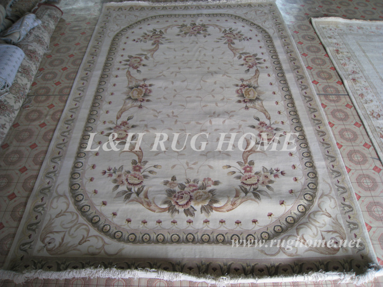 Free shipping 7'X10' 160Line Hand-knotted Persian Rug, Wool and Silk - Home Textile