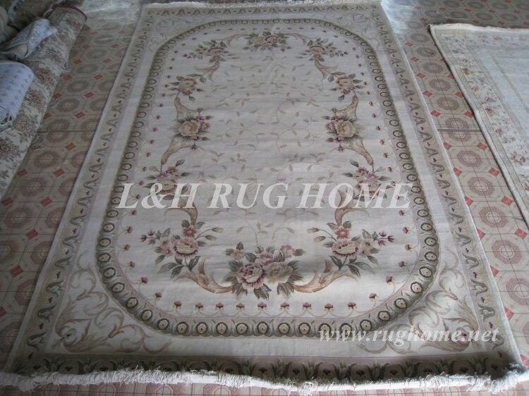 Gratis forsendelse 7'X10 '160Line Håndknyttet persisk tæppe, uld og - Hjem tekstil