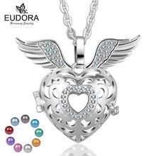 Подвеска в виде крыльев Ангела подвеска медальона с кристаллами
