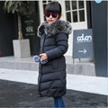 2016 Fashion Girl's Down jackets/coats winter Russia baby Coats thick duck Warm jacket Children Outerwears -30degree jackets