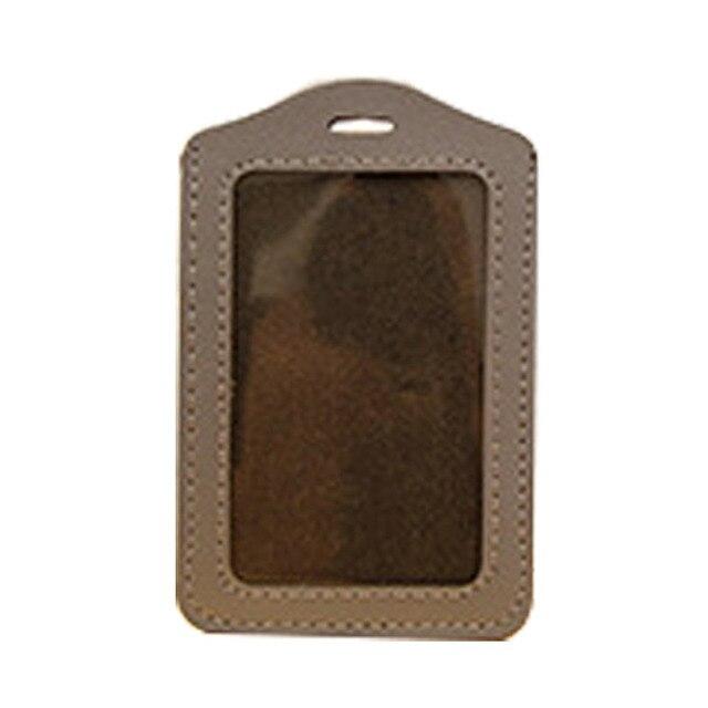 Vertical Style PU En Cuir ID Porte Badge Un Emplacement De Carte - Porte badge cuir