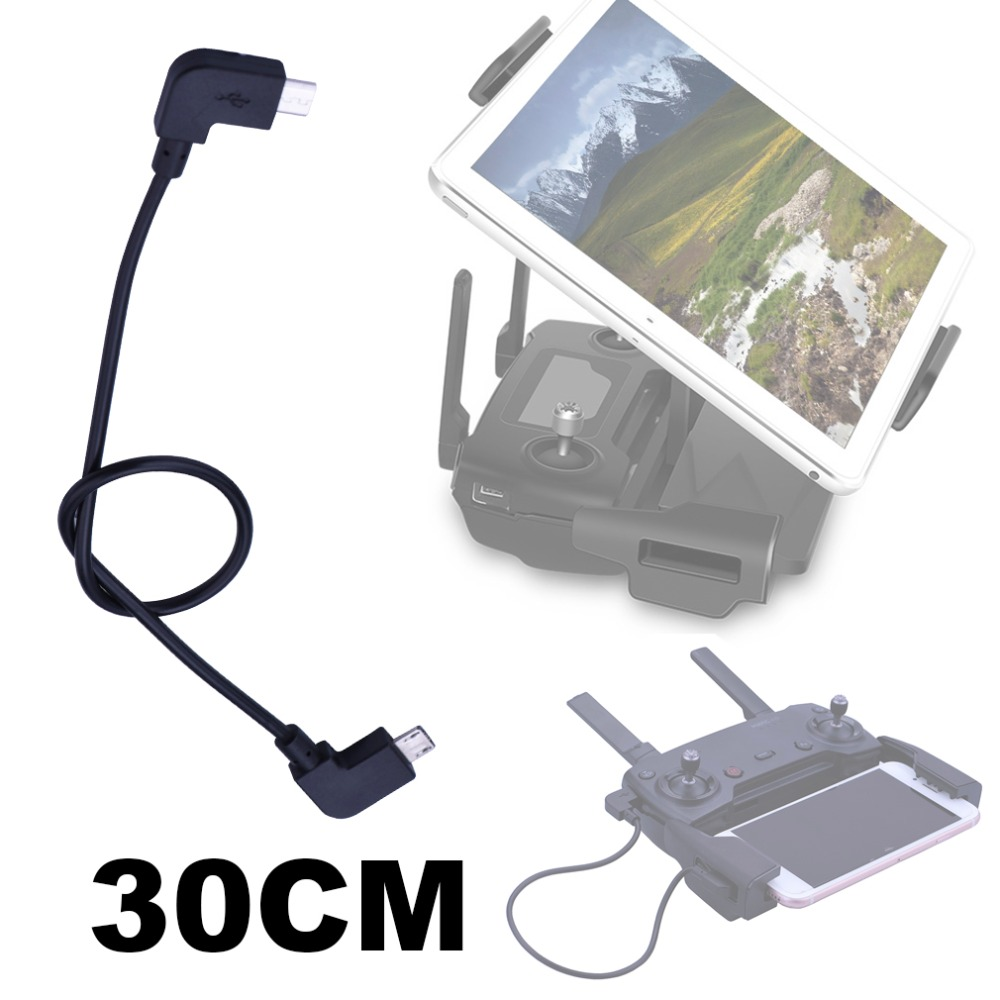 30CM OTG Data Cable For DJI Mavic Pro Air Spark Mavic 2 Zoom Drone IOS type-C Micro-USB Adapter Wire Connector for Tablet Phone 30cm otg data cable for dji spark mavic 2 pro zoom air mavic pro micro usb type c adapter connector phone tablet to controller