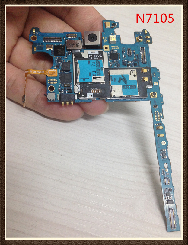 100%Working~Unlock Good quality Original Motherboard For Galaxy note 2 N7105 Board 4G version Clean IMEI free shipping