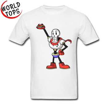 Free Shipping Papyrus Karaszkun Funny Java Anime T Shirt For Boy 100% Twin Peaks Fabric Short Sleeve Top T-shirts Street Tshirt image