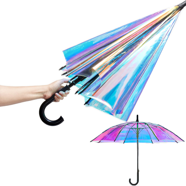 Лазерный зонтик Единорог детские зонтики радужная пленка меняющий цвет зонтик Детские Прозрачные Зонтики дропшиппинг