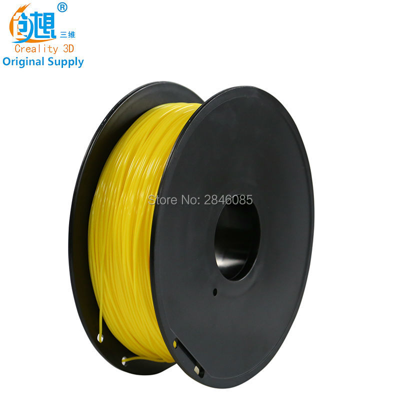 CREALITY 3D Printer Parts Filament High Quality Yellow PLA 1.75mm for 3D Printer 1kg Shining Material high quality wanhao jewelry 3d printer with 2gb sd card an 1kg filament for free