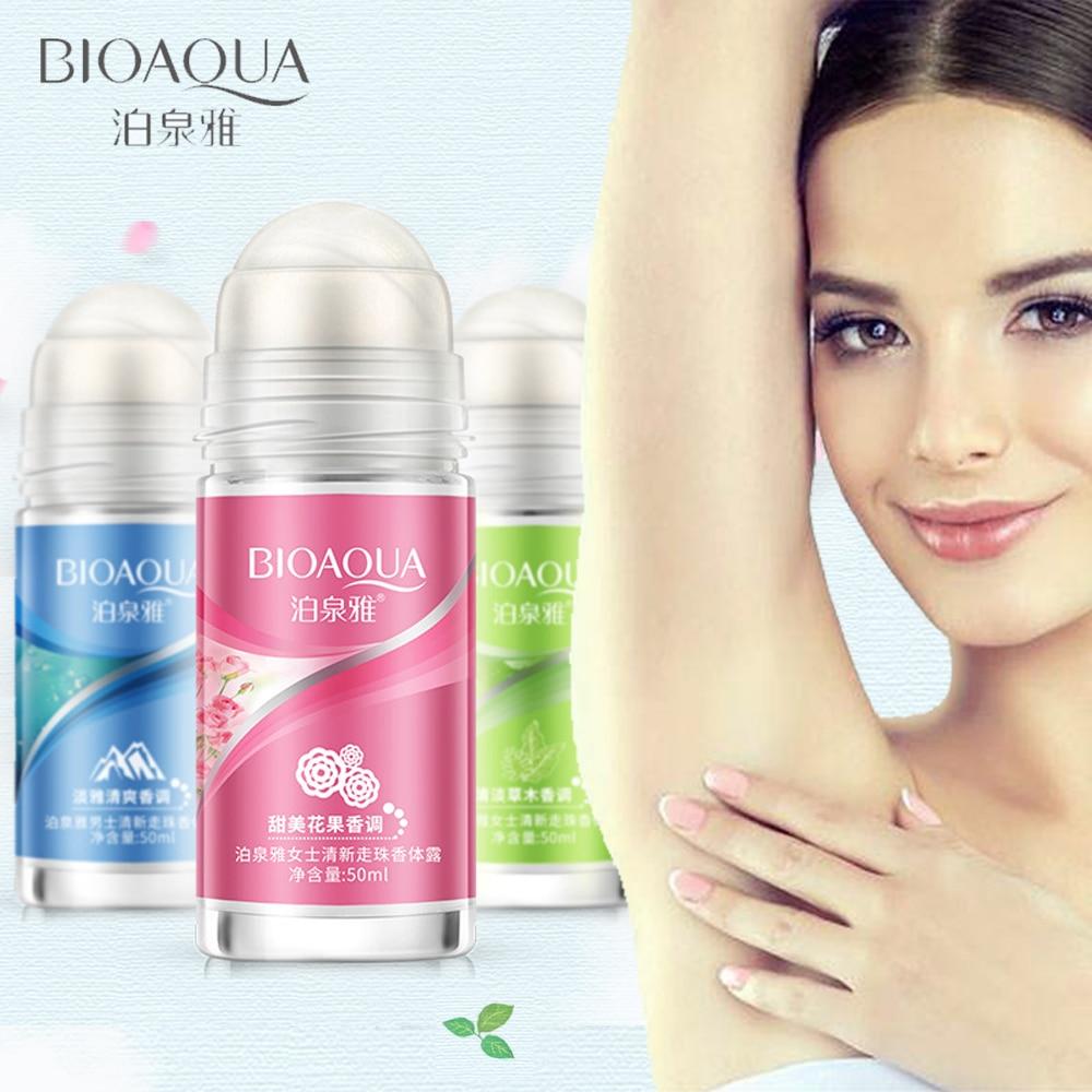 BIOAQUA Ball Body Lotion Antiperspirants Underarm Deodorant Roll on Bottle Women Fragrance Men Smooth Dry Perfumes