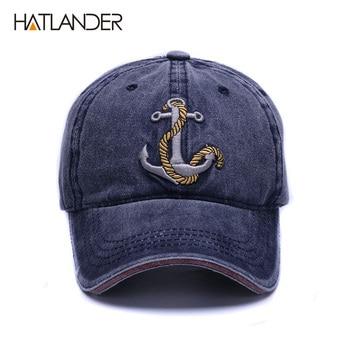 [Hhatlander] العلامة التجارية غسلها لينة القطن قبعة بيسبول قبعة للنساء الرجال خمر أبي قبعة 3d التطريز عارضة الرياضة في الهواء كاب 1