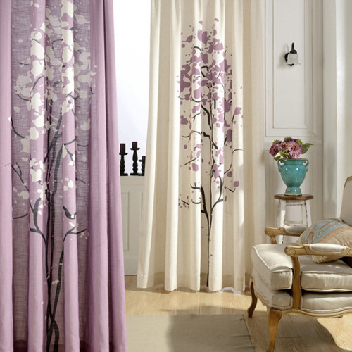 The New Printed Curtains Beautiful Double Color Patterns Living Room Bedroom Use
