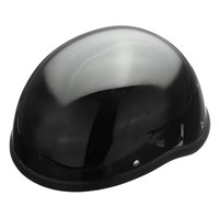 새로운 ABS 광택 55-60 센치메터 블랙 오토바이 안전 반 헬멧 열려있는 얼굴 헬기 두개골 캡 바이커 파일럿 크루