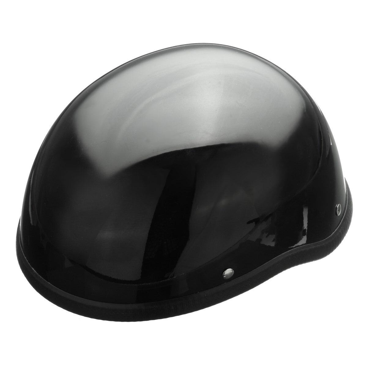 NEW ABS Gloss 55-60cm Black Motorcycle Safety Half Helmet Open Face Chopper Skull Cap Biker Pilot Cruiser new tk chinese military air force jet pilot open face motorcycle black helmet