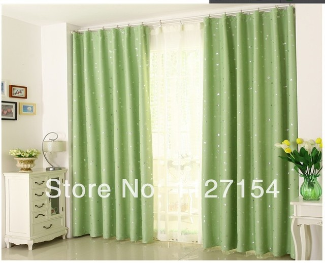 US $24.64 |Free shipping Green Cartoon FinishedCurtain Blackout drapes For  Children\'s bedroom living room decorations Custom curtains-in Curtains from  ...